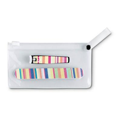 Image of Manicure tools in clear pouch