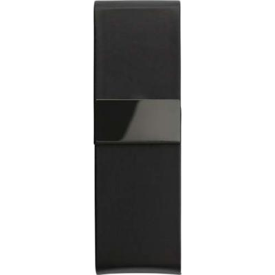 Image of PU luxurious black pen case, suitable for two pens