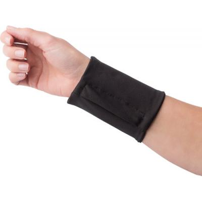 Image of Elasticated polyester wrist wallet with zipped pocket