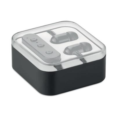 Image of Bluetooth earphones in box