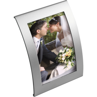 Image of Curved metal photo frame