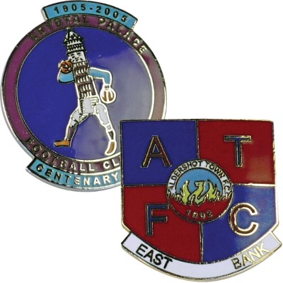 Image of 20mm Stamped Iron Hard Enamelled Metal Badge