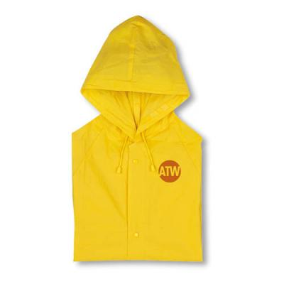 Image of PVC raincoat with hood