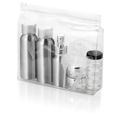 Image of Frankfurt airline approved alu travel bottle set