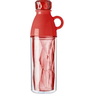 Image of Plastic geometric style double walled bottle