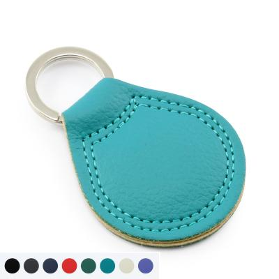 Image of E Leather Large Teardrop Key Fob