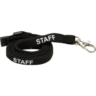 Image of 10mm Tubular Lanyard pre printed STAFF