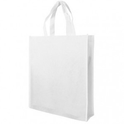 Image of White Non Woven Poypropylene Carrier Bag