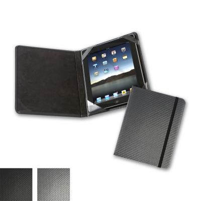Image of Carbon Fibre Texture  Notebook Style iPad or Tablet Case